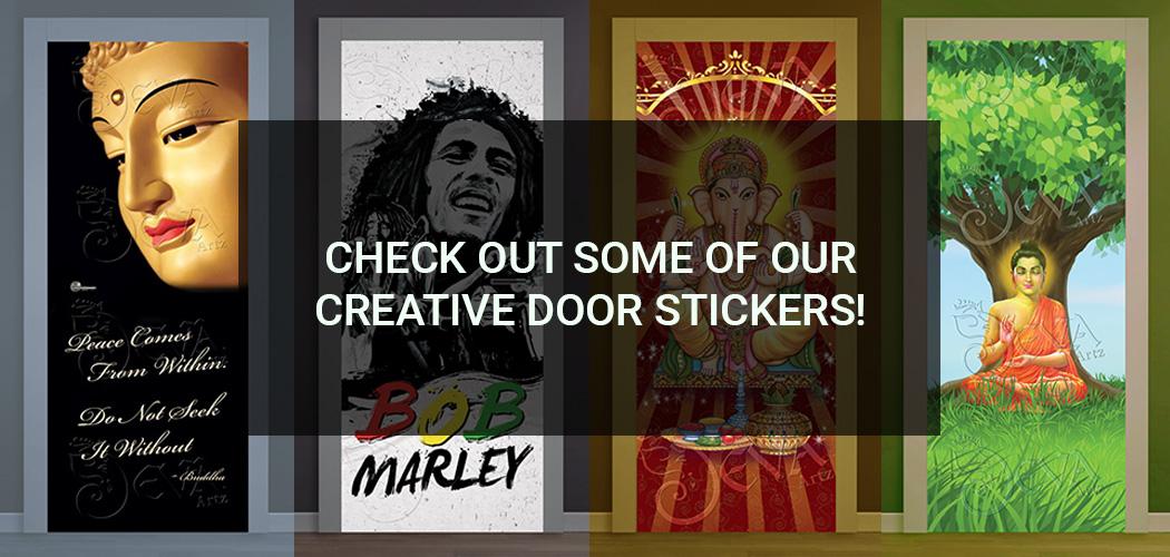 door sticker examples